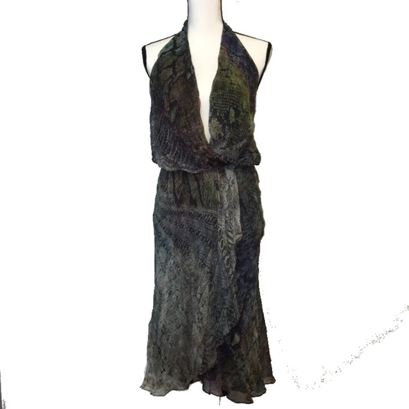 f484fc6ccd Haute Hippie Dresses | Faux Wrap Silk Halter Dress Nwt | Poshmark